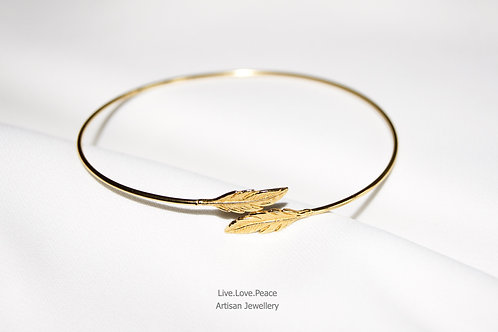 'Freedom' Golden Feather Cuff