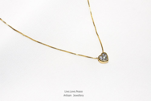 'Forever Love' Gold Necklace With Diamond