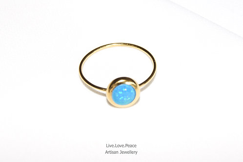 'Blue Opalus' Gold Ring