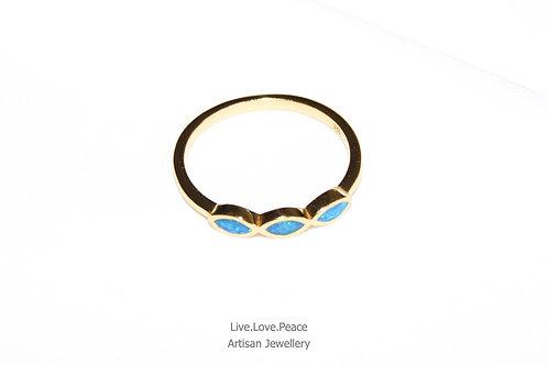 'Opal Trinity' Gold Ring