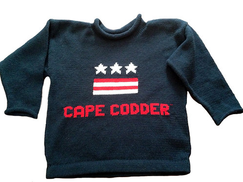 Cape Codder Rollneck USA Sweater - Navy