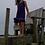 Thumbnail: CC Tank Top Ruffle Dress -  Purple