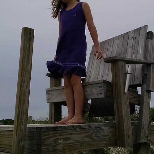 CC Tank Top Ruffle Dress -  Purple