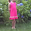 Thumbnail: CC Tank Top Ruffle Dress -  Raspberry