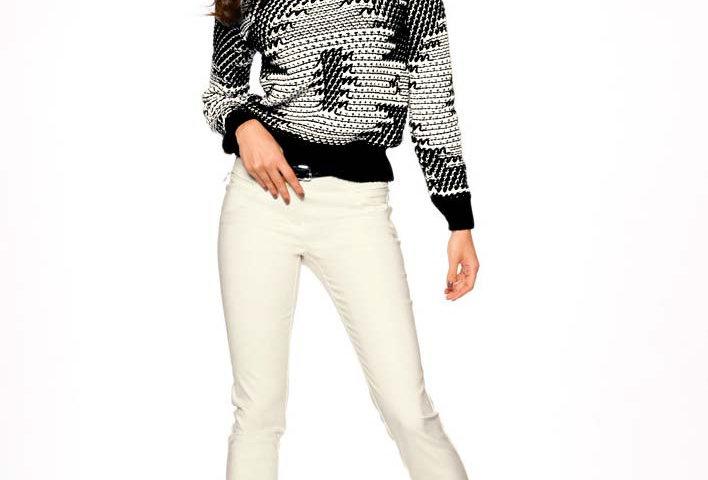Pullover, schwarz-wollweiss