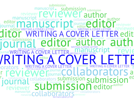 Writing a cover letter to the editor for a manuscript submission