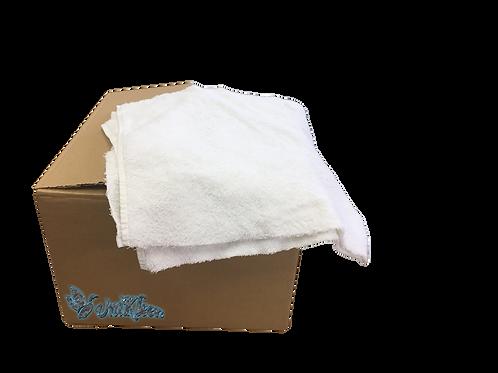 Πετσέτα βαμβακερή λευκή 35x35 cm