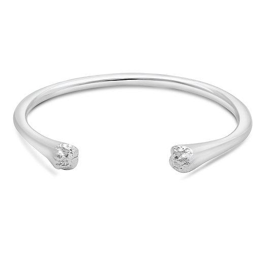 Solid Silver Snout Cuff Bracelet