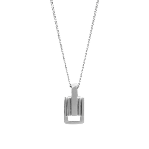 Solid Silver Small Link Pendant