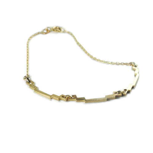 Skinny Links Gold Bracelet