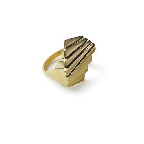 Twin Deco Gold Ring