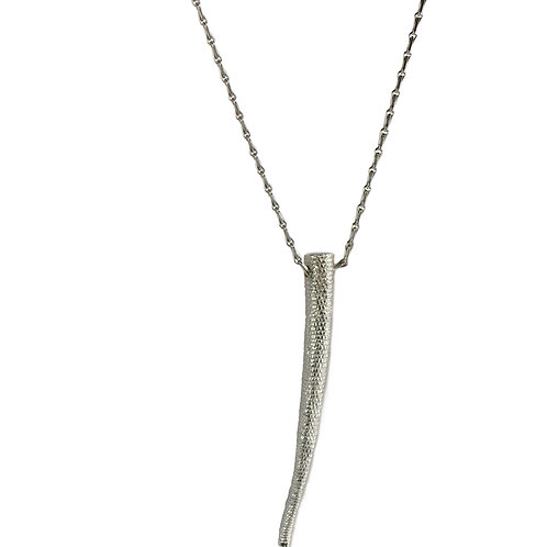 Solid Silver Long Tail Pendant