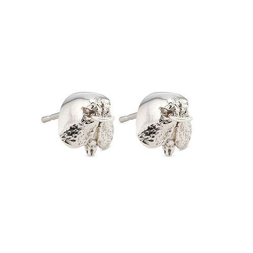 Silver Snout Stud Earrings