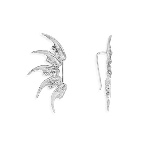 Silver Jaw Climber Earrings