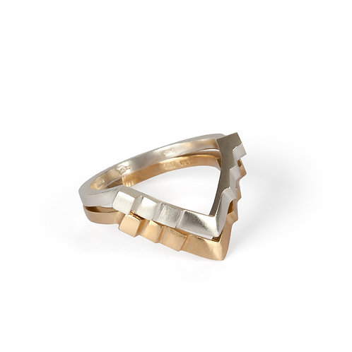 Wishbone Gold Stacking Ring