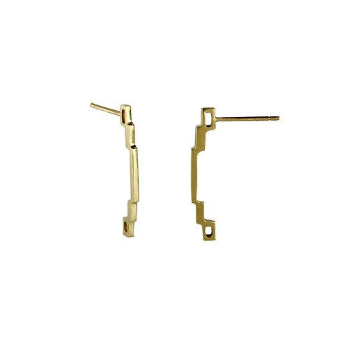 9 Carat Gold Skinny Link Earrings