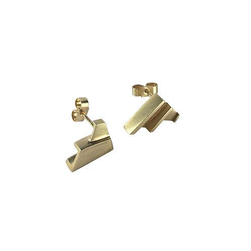 Solid Gold Fan Earrings