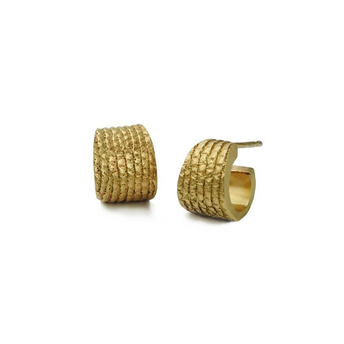Gold Cuff Tail Earrings