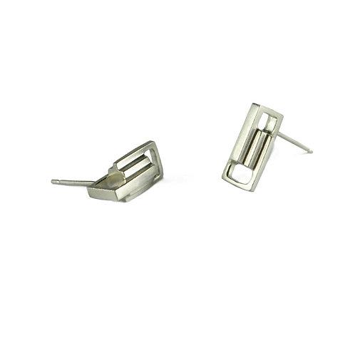 Silver Small Link Earrings