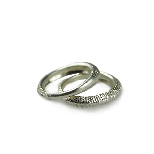 Slim Silver Tail Stacking Ring