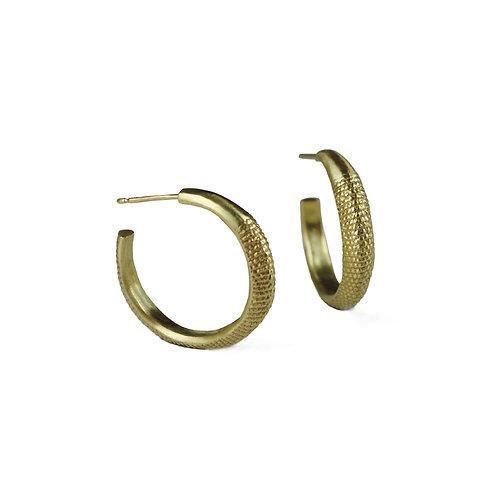 Gold Tail Hoop Earrings