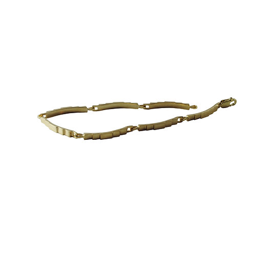 Slim Steps Gold Link Bracelet