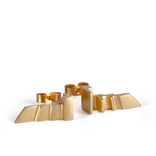 Gold Reverse Style Art Deco Earrings