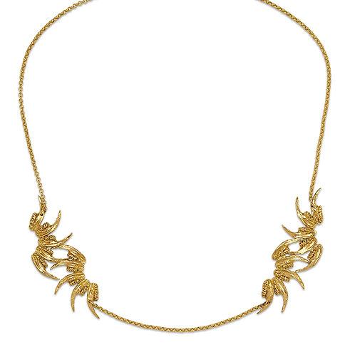 9 Carat Gold Squared Jaw Nouveau Necklace