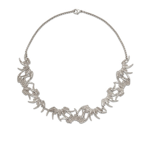 Silver Nouveau Climber Necklace