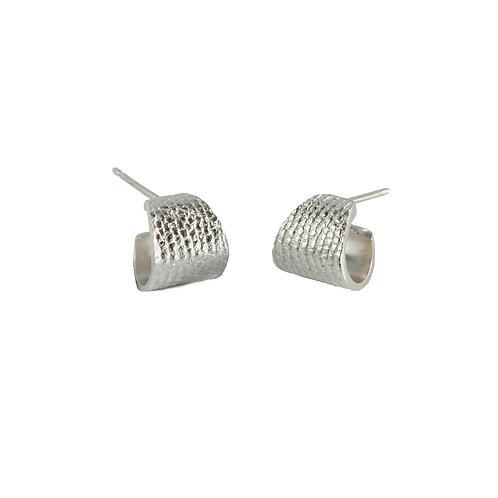 Silver Cuff Tail Earrings