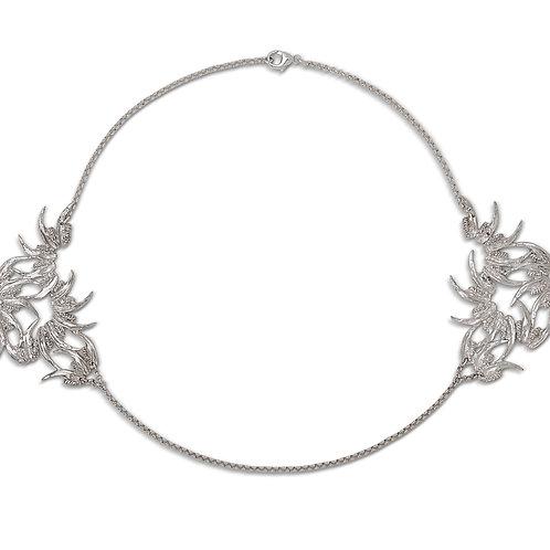 Silver Jaw Nouveau Collar