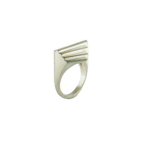 Sterling Silver Twin Deco Ring