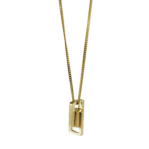 Gold Small Link Pendant