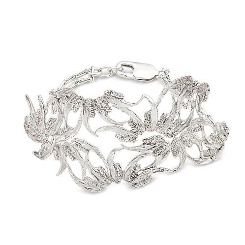 Silver Jaw Nouveau Cuff Bracelet