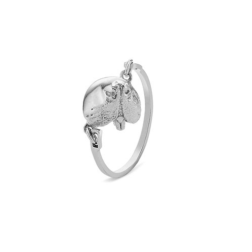 Silver Snout Pinky Link Ring