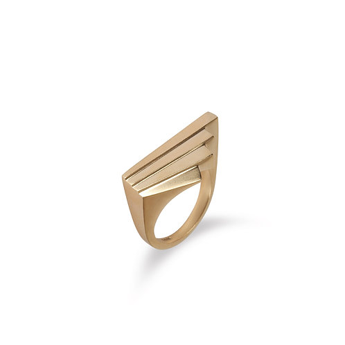 Solid Gold Fan Ring