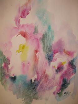 Oltre il fiore - acquerello