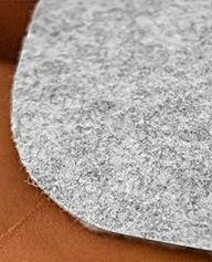 Feutre de pure laine utilisé pour les housses de flûtes traversières