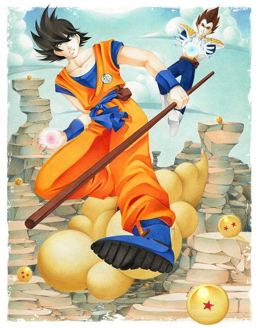 Big Goku VS Vegeta Print