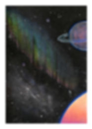 Mini Space Rainbow Print