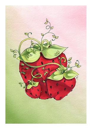 Mini Strawberries Print