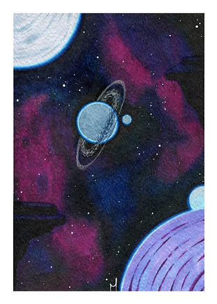 Mini Space Moons Print