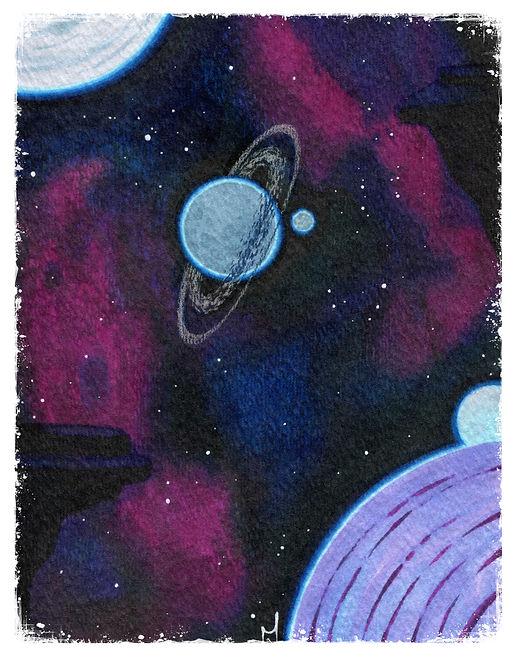 Big Space Moons Print