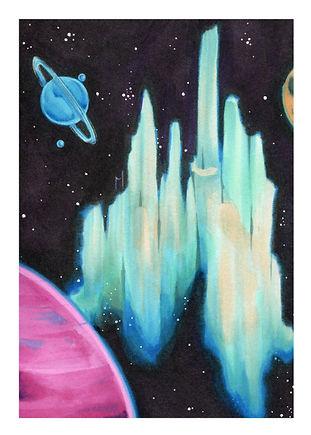 Mini Space City Print