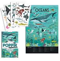 2 poppik sticker poster oceans animals h