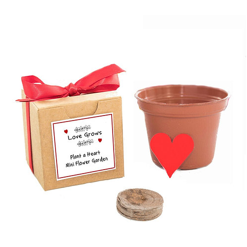Love Grows Flower Seed Garden Grow Kit Gift