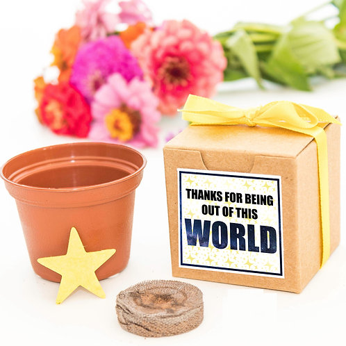 Thanks for Being Out of This World Flower Garden Grow Kit