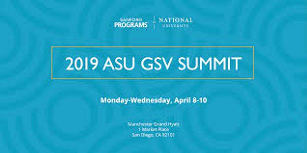 Say hi at ASU GSV