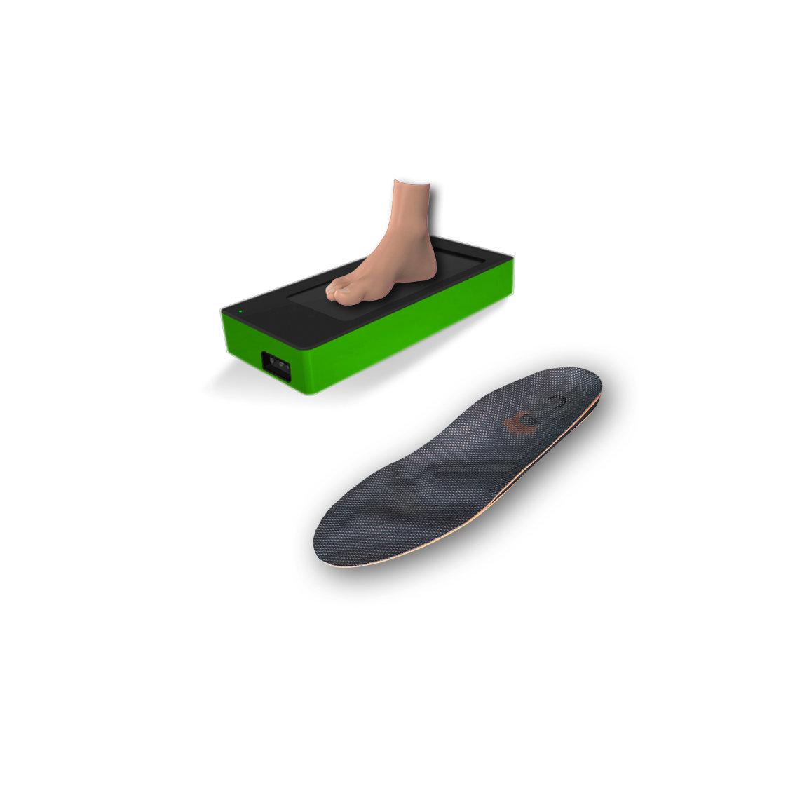 3D scan + 1 pair of custom orthotics