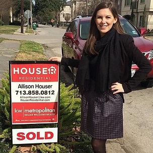 Allison's first sale!